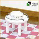*KINGWANG*【ID57694白/ID57691棕】日本Richell卡羅- 單碗架小型犬貓-可伸縮高度
