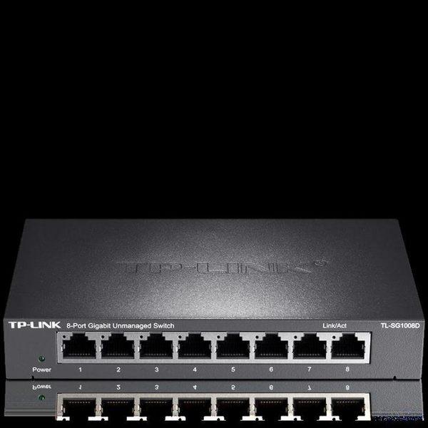 TP-LINKTL-SG1008D8口千兆交換機鋼殼網路監控分線器分流器WY【快速出貨】