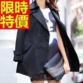 風衣外套 長版-長袖顯瘦簡單防寒英倫風女大衣5色59o48【巴黎精品】