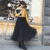 【優選】網紗裙半身裙長裙中長款時尚蓬蓬百褶裙