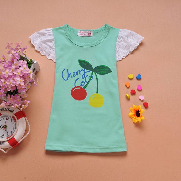 *╮小衣衫S13╭*小櫻桃布蕾花邊長版衣 1020458
