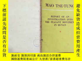 二手書博民逛書店MAO罕見TSETUNG REPORT OF AN INVEST