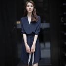職業洋裝 襯衫裙設計感 輕奢女裝早秋連身裙職業裝氣質女神風職場輕熟風-Ballet朵朵