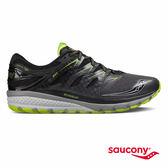 SAUCONY ZEALOT ISO 2 緩衝避震專業訓練鞋款-灰x黑x萊姆綠