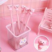 中性筆-粉紅小豬豬造型水性筆 0.5黑字 中性筆 【AN SHOP】