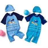 兒童泳衣男童連身中大童游泳褲套裝男孩卡通泳裝小童寶寶防曬裝備 童趣潮品