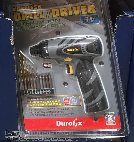 Durofix Drill 鋰電池電動起子 8V電鑽 (扭力130kg)