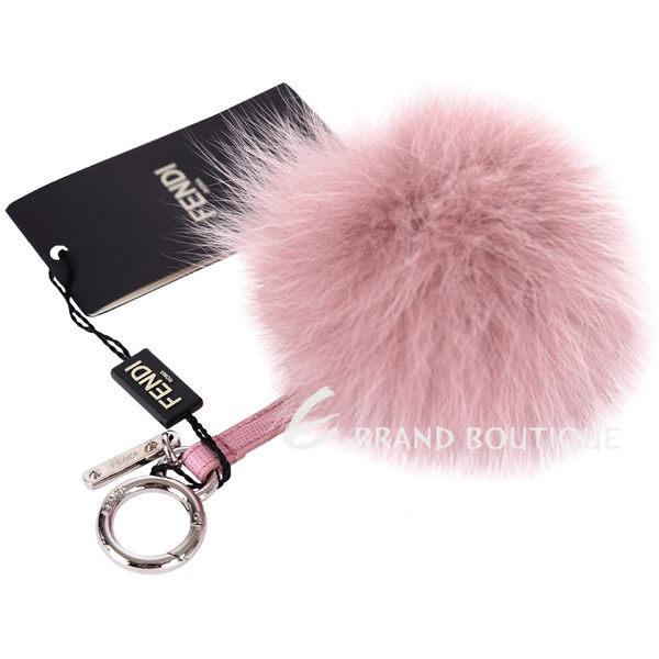 FENDI POMPOM BAG CHARM 狐狸毛球吊飾(粉色) 1620732-05
