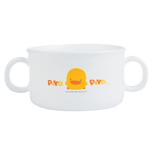 【奇買親子購物網】黃色小鴨雙耳杯(微波爐專用)