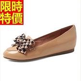真皮平底鞋-繽紛輕盈個性女尖頭鞋2色58l99[巴黎精品]