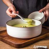 創意拉面碗泡面碗陶瓷碗家用大碗日式餐具沙拉碗水果碗大號湯碗  Cocoa