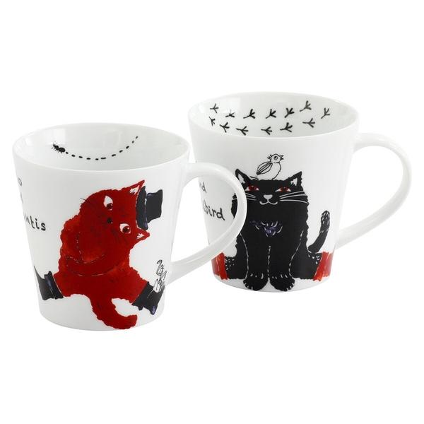 【日本製】 Marlo與小夥伴系列 白磁馬克杯對杯組(一組:24個) SD-6427-24 - 日本製