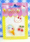 【震撼精品百貨】Hello Kitty 凱蒂貓~KITTY立體鑽貼紙-櫻桃冰淇淋