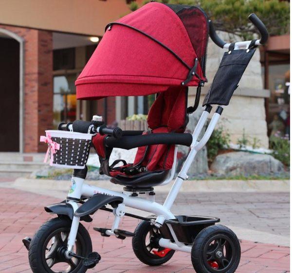 多功能兒童三輪車小孩單車寶寶腳踏車1-3-6歲自行車手推車嬰兒車Igo  Igo coco衣巷