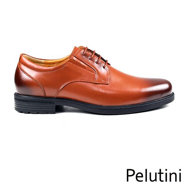 【Pelutini】厚底簡約德比鞋 茶褐色(6501-BR)