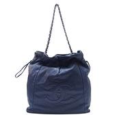 CHANEL 香奈兒 藍色牛皮鏈帶肩背包 31 Drawstring Bag【二手名牌BRAND OFF】