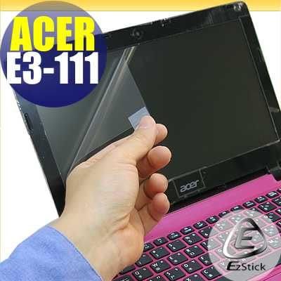 【EZstick】ACER Aspire E11 E3-111 專用 靜電式筆電LCD液晶螢幕貼 (可選鏡面或霧面)