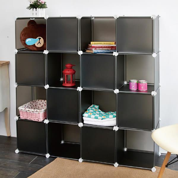 ikloo 16格16門百變收納櫃 創意組合收納櫃 鞋櫃 衣服玩具收納箱置物櫃【BG0552】Loxin
