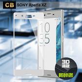 CB SONY Xperia XZ 防碎邊滿版3D玻璃保護貼-伯爵銀