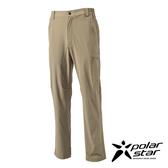 PolarStar 男 四向彈性抗UV長褲『卡其』 西裝褲│休閒褲│吸濕排汗│直筒褲 P16327
