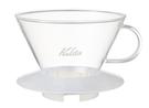 金時代書香咖啡 Kalita 185系列 蛋糕型玻璃濾杯 2-4人 雪花白 #05112