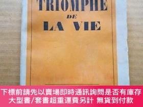二手書博民逛書店法文原版毛邊書:罕見JEAN GIONO TRIOMPHE DE LA VIEY47089 JEAN GION