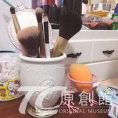 貴族浮雕肖像化妝刷筒化妝品收納盒化妝刷桶筆刷筒桌面收納筒收納