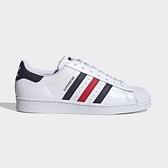 Adidas Superstar 男女鞋 白 藍 紅 休閒鞋 小白鞋 貝殼頭 FX2328