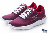 SKECHERS 新竹皇家 GO Run 400 紫紅 網布 避震 輕量 慢跑鞋 女款 NO.I7103