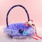 一定要幸福哦~~幸福喜籃(紫色)~喜糖、喜糖籃