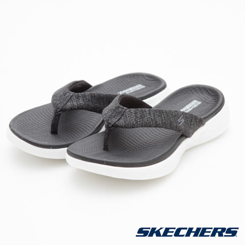 SKECHERS ON THE GO 600 時尚休閒拖鞋 灰 15304BKW 女鞋