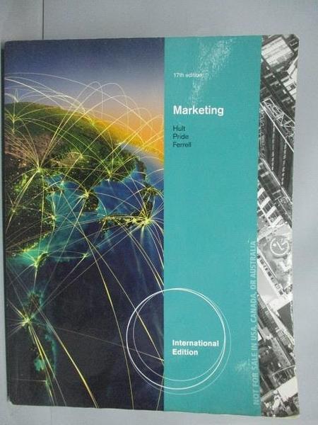 【書寶二手書T5/大學商學_ZBF】Marketing(17版)_Pride、Hult、Ferrell