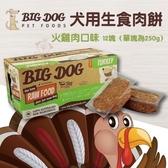 *WANG*【免運】(1盒12片入)澳洲BIG DOG(BARF)巴夫《犬用生食肉餅-火雞肉口味》//冷凍配送