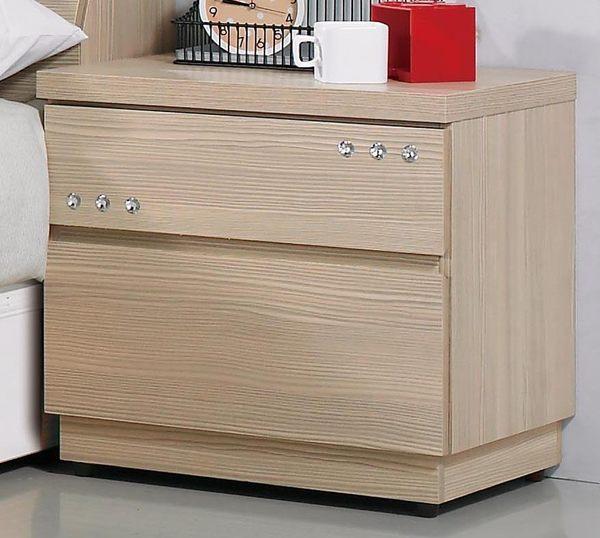 【森可家居】安琪拉香檳松床頭櫃 7JX123-10 木紋質感 限量出清