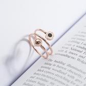 正韓鈦鋼彈簧戒指女款精致百搭時尚食指環玫瑰金鈦鋼首飾品不褪色