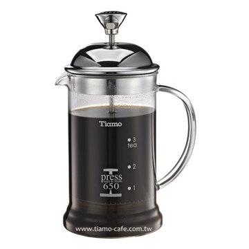 金時代書香咖啡   TIAMO 多功能法式玻璃濾壓壺 650cc  HG2113