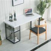 實木台式電腦桌辦公桌隔斷寫字台簡約現代大理石書桌家用桌子(定制)  DF  玫瑰女孩
