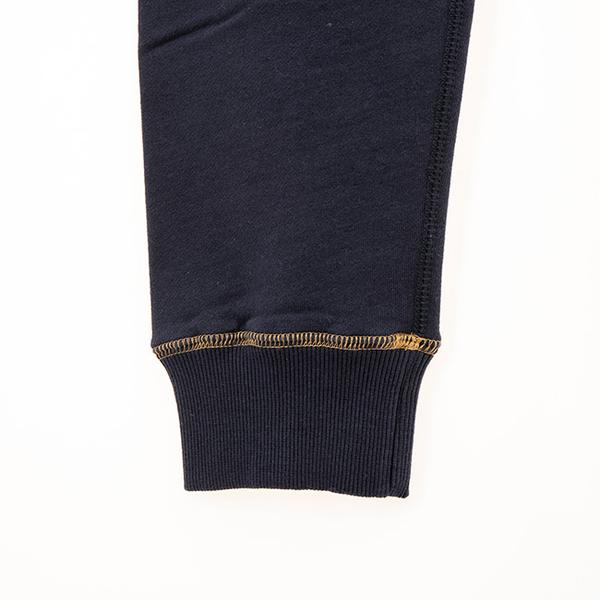 女裝ROOTS - 撞色飾邊刷毛休閒棉褲-藍色
