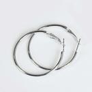 316L醫療鋼 素面極細 中耳圈耳環-30mm、40mm 防抗過敏