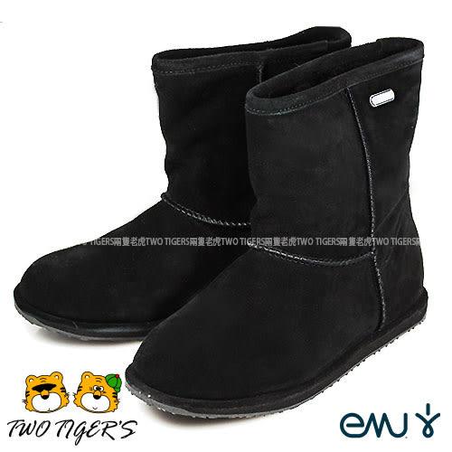 澳洲 EMU Brumby Lo 防水 waterproof 羊毛雪靴 中大童–黑色 (K10773) NO.Y0640
