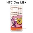 迪士尼透明軟殼 [點點] 維尼&小豬 HTC One M9+ (M9 Plus)【Disney正版授權】