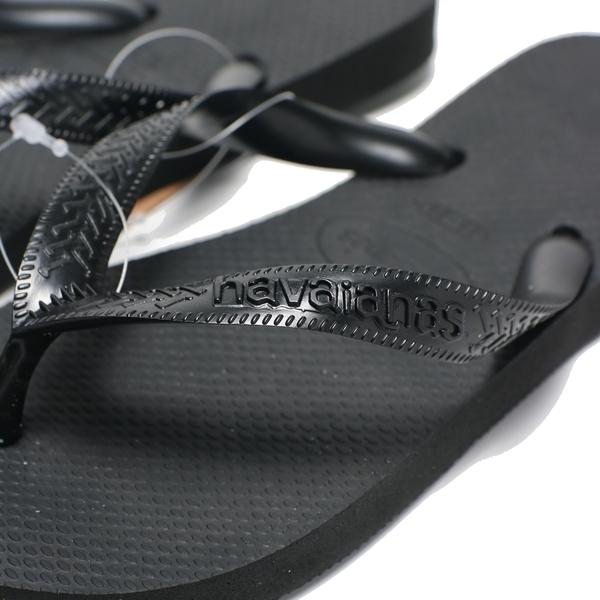 HAVAIANAS 哈瓦仕 人字拖 黑 基本款 拖鞋 男女 (布魯克林) 40000290090U
