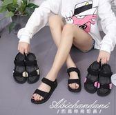 平底涼鞋女韓版潮百搭厚底羅馬鞋時尚復古沙灘鞋 黛尼時尚精品
