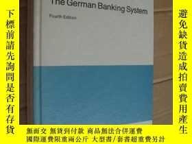 二手書博民逛書店THE罕見GERMAN BANKING SYSTEM 《德國銀行