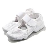 Nike 童鞋 Rift PS 全白 白 忍者鞋 魔鬼氈 分趾鞋 小朋友 女鞋 大童 中童 親子鞋【ACS】 322359-111