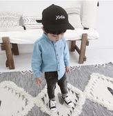男童襯衫2019新款韓版兒童長袖休閒上衣寶寶牛仔襯衣男1-2-3歲潮Mandyc