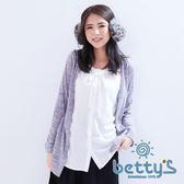 betty's貝蒂思 外搭罩衫感假兩件式上衣(灰色)