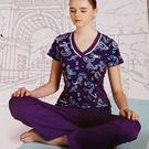 KAPPA義大利女速乾短袖韻律服-羅蘭紫...