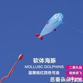 風箏 軟體風箏海豚風箏鯨魚風箏卡通風箏兒童大型軟體風箏易飛『快速出貨』