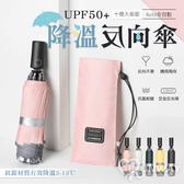 鈦銀降溫 十骨 抗強風 加大傘面 防紫外線 UPF50+ 三折 防反彈 收納 自動 反折 反向傘 晴雨傘 陽傘